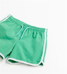 boys swim trunks - PIPED BERMUDA SWIMMING SHORTS from Zara