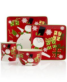 Certified International Christmas Presents Snomwan Collection