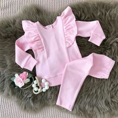Adorable Toddler Kids Baby Girl Long Sleeve Tops Pants Outfit Set Casual Clothes – Outfit Ideas for Girls Tops For Leggings, Dresses With Leggings, Leggings Are Not Pants, Girls Long Sleeve Tops, Autumn Clothes, Autumn Outfits, Mode Hijab, Outfit Sets, Pants Outfit