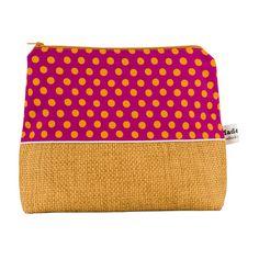 Yellow Polka Dot Wash Bag £24.00