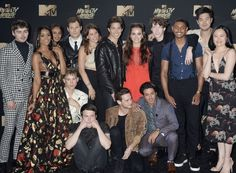 13 Reasons Why cast at MTV Movie and Tv Awards