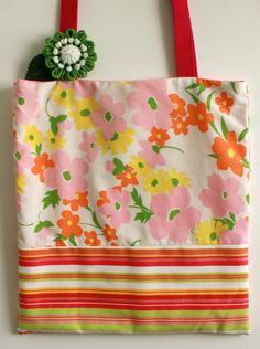 #vintage sheet tote bag