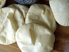 Homemade Pita - this is a great recipe, turns out perfect each time.