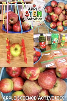 Integrate Apple STEM and Science this Fall!  Discover how matter changes by heating and cooling by making applesauce. Design and engineer an Apple Tower. Learn why apples turn brown and how to prevent browning using the scientific method, and Build an Apple Basket!  The Engineering Design Process and The Scientific Method:  Each activity in this bundle takes students through The Scientific Method or The Engineering Design Process.  #Apples #fall #autumn #STEM #tpt #Teacherspayteachers #fun Stem Teacher, Elementary Teacher, Science Activities, Science Experiments, How To Make Applesauce, Engineering Design Process, Apple Baskets, Stem Learning, Coding For Kids