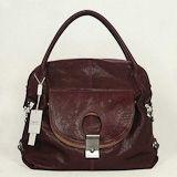 Marc Jacobs First Choice for The Season 8387 Purple-grey hand grasp skin single shoulder bag
