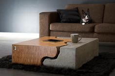 The Broken; Limited edition bamboo and concrete coffee table.