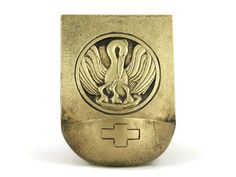 Art Deco Brass Holy Water Font with Stork and by LeBonheurDuJour