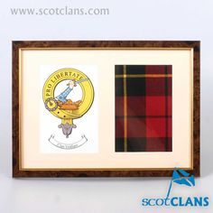 Clan Wallace Crest and Tartan Print. Free worldwide shipping available