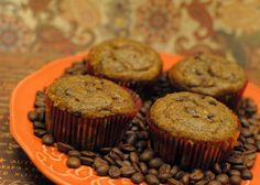 Pumpkin Cappuccino Chip Muffins - these delicious fall muffin are bursting with pumpkin, chocolate, and cappuccino flavors. Yummy Treats, Yummy Food, Cupcake Cookies, Cupcakes, Best Sweets, Starbucks Recipes, Canned Pumpkin, Mini Chocolate Chips, Foods To Eat