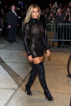 Attending the release party and screening for her self-titled album Beyonce in New York City.   - ELLE.com