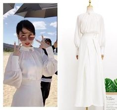 Feeling lavish and extravagant? Be like Jang Man Wol, the CEO of Hotel Del Luna, who loves fancy things just like this dress. Get this latest item inspired from newest Korean Drama Hotel Del Luna to complete your posh look! Old Dresses, Nice Dresses, Casual Dresses, Fashion Dresses, Korea Fashion, Kpop Fashion, Asian Fashion, Luna Fashion, Hijab Fashionista