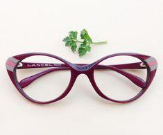 LANCEL Cat-Eye frames / Vintage french dead-stock 80s eyeglass