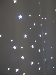 Best Kids product of 2011 XLARGE Twinkle Curtain   par GRAstudio, $89,00. Bet you could make this yourself with a cheap curtain from the dollar store and a star hole puncher