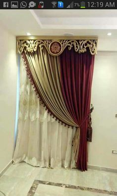 Мне на зал Classic Curtains, Elegant Curtains, Modern Curtains, Custom Curtains, Curtain Designs For Bedroom, Wooden Valance, Rideaux Design, Small Apartment Design, Warm Home Decor