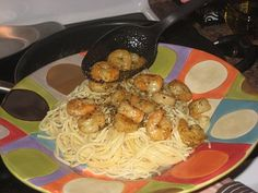 Easy pasta and shrimp