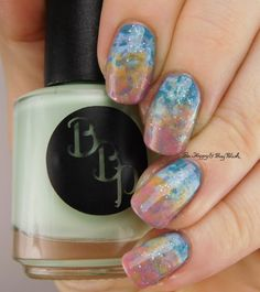 Bad Bitch Polish Southern Hemisphere nail art   Be Happy And Buy Polish https://behappyandbuypolish.com/2016/10/17/bad-bitch-polish-southern-hemisphere-collection-swatch-review/