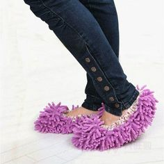 3 Pairs of Microfiber Mop Slippers