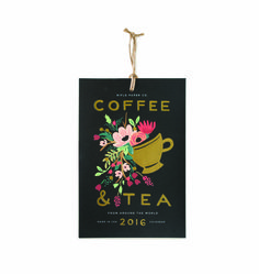 Tea And Coffee 2016 Wall Calendar With Gold Foil Print