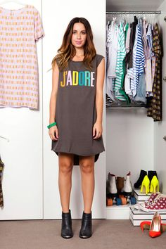 - J'ADORE Muscle Dress In Charcoal Chip Chop! Is one of my all time fav brands! Birthday Wishlist, Shirt Dress, T Shirt, Charcoal, Cool Style, Muscle, Chic, Inspiration, Shopping