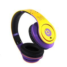 Monster Beats Studio #24 Special Edition  $189.99 Only  Yellow & Purple   World-wide shipping  After 25 years, Dr. Dre was tired of spending months on a track only to have his fans hear it on weak, distorting earbuds. Two years and hundreds of prototypes later, Beats Studio headphones are the icons that bring you sound the way it was originally intended.