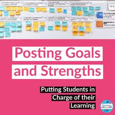 Post students' strengths and goals for conferencing and peer editing Feedback For Students, Punctuation, Periodic Table, Give It To Me, Goals, Organization, Teaching, Writing, Blog