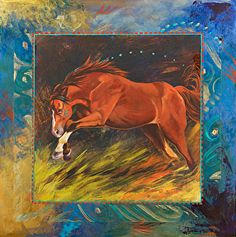 "Red by Nancee Jean Busse Acrylic ~ 24"" x 24"""