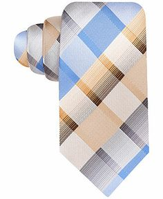 John Ashford Dove Grid Tie - Ties & Pocket Squares - Men - Macy's