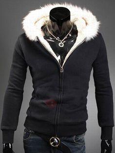 #TideBuy - #TideBuy Tidebuy Fleece Hooded Cardigan Zipper Black Mens Hoodie - AdoreWe.com