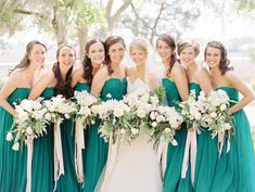 RiverOaks Charleston Wedding by Nancy Ray Photography - Southern Weddings:: J Crew Bridesmaid Dresses, Wedding Bridesmaids, Wedding Dresses, Green Bridesmaids, Prom Gowns, Wedding Attire, Wedding Flowers, Summer Wedding Colors, Spring Wedding