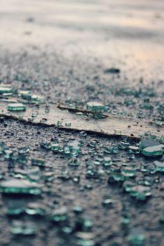 Broken glass, shattered efforts, shattered dreams