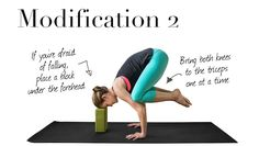 How to do Crow Pose and 3 Modifications