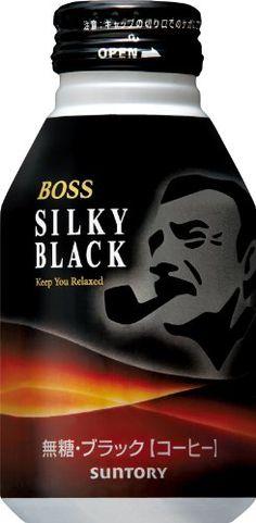 this Suntory coffee boss silky black Protein, Boss, Yummy Food, Packaging, Coffee, Black, Kaffee, Delicious Food, Black People