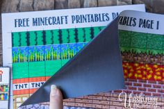 Free Minecraft Magnet Printables-2-- I do not understand Minecraft but i will bet your boys are very into it.