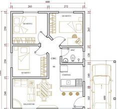 11 melhores imagens de casas ate 80 metros plantas de for Casa moderna gratis