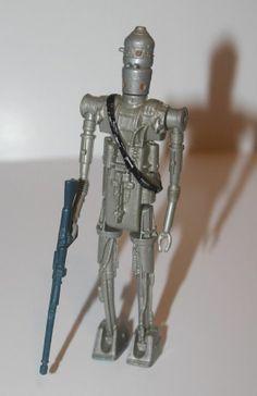Vintage Kenner Star Wars ESB Empire Strikes Back Bounty Hunter IG-88 Figure 1980 #Kenner