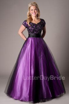 Jameson   Modest Prom Dress   Mormon Prom Gown   Sleeves ...