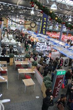 Old Spitalfields Market: stalls. Wonderful foods and crafts in Shoreditch Took my son there this year.