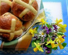 """Traditional Fruit & Spiced Hot Cross Buns: """"A wonderful old family recipe for HUGE hot cross buns!"""" -French Tart"""