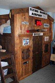 Vintage Airport Loft Bed | Do It Yourself Home Projects from Ana White