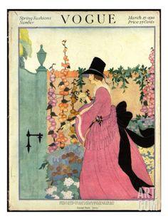 Vogue Cover - March 1918 Regular Giclee Print by Helen Dryden at Art.com