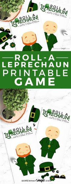 Get ready for a night of family fun with some simple Leprechaun Games! This Roll A Leprechaun Dice Activity can't get any easier to prepare and play. St Patrick's Day Games, Fun Group Games, Kids Party Games, Birthday Party Games, Christmas Drinking Games, Christmas Games For Kids, Birthday Greeting Cards, Happy Birthday Cards, Leprechaun Games