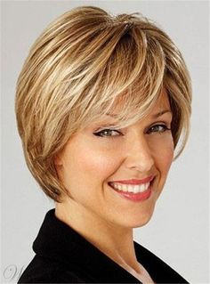Short Layered Shaggy Bob Straight Haircut Hairstyle Synthetic Hair Capless 10 Inches