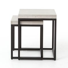 Shop our Bina Mercury Concrete + Iron Console Table on sale. this console table's grey concrete top features rubbed edges and industrial rivets Large Table, Small Tables, End Tables, Smooth Concrete, Concrete Color, Concrete Cement, Concrete Furniture, Modern Outdoor Furniture, Iron Console Table