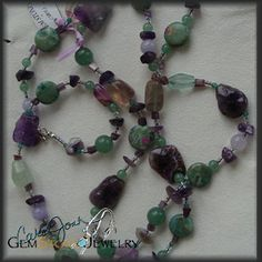 "Amethyst Multi-stone Necklace: You may have know that February's birthstone is Amethyst, but did you know that ""amethyst"" comes from the Greek and means ""not drunken,"" and is believed by ancient Greeks and Romans to ward of the effects of intoxication and keep the wearer clear-headed and quick-witted? In Hindu and Buddhism, it is regarded that the Amethyst supplies the connection between the physical and also the spiritual self, and so providing comfort and peacefulness."