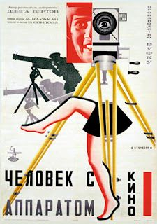 Poster for the Russian avant-garde film The Man with the Movie Camera, Directed by Dziga Vertov and edited by his wife Elizaveta Svilova. Avant Garde Film, Russian Avant Garde, Vintage Movies, Vintage Posters, Alexandre Rodtchenko, Cinema Posters, Movie Posters, Russian Constructivism, Soviet Art