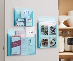 Pantry pockets hang neatly on the pantry door and contain recipes, coupons and take-out menus. @STAPLES