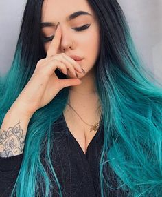 From customer's loveSee our sweet customer @andreeva_karina is perfectly rocking this Black/Green Ombre straight wig.How do you love this green onegirls?wig sku:edw1092 Use Coupon Code:INS to get 10% Off on your order. http://ift.tt/2n1yAd6 #hairstyles#lacefrontwig #beauty#frontlacewig #syntheticwigs#synthetic#2017hair