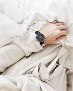 David Wellington Watch & Cynthia Rowley cashmere robe - @the_calmcollective