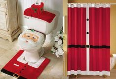To complete bathroom decoration, you will need a Christmas shower curtains too and below I have for you 18 incredible Christmas bathroom curtains. Merry Christmas To All, All Things Christmas, Christmas Crafts, Christmas Trees, Christmas Shower Curtains, Christmas Bathroom Decor, Diy Design, Diy Weihnachten, Fabric Shower Curtains