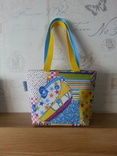 Quirky Patchwork Campervan Shoulder Bag by SunNSparkles on Etsy, £20.00